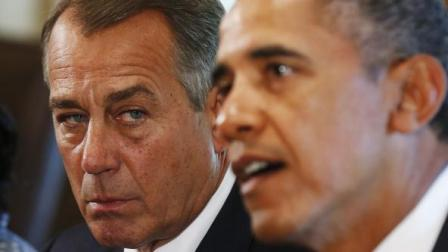 "Speaker John ""Side-Eye"" Bohner and President Obama"